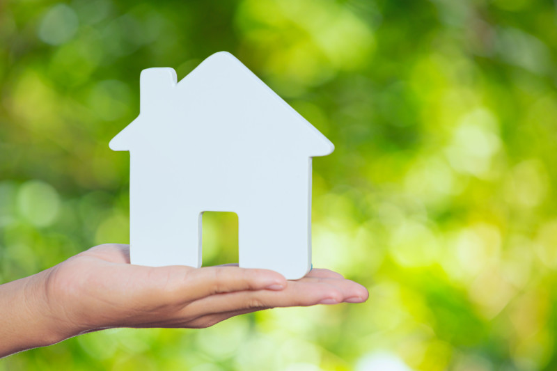 World Habitat Day,model house on hand